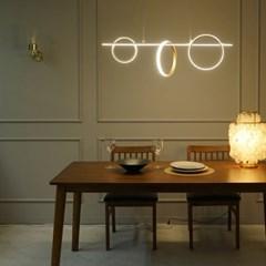 링 골드 국산 LED 식탁등 주방 조명 40w