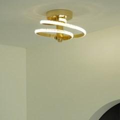 나선 크리스탈 골드 화이트 LED 직부 센서등 20w