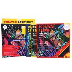 플라워모나코 스크래치 카드 북 자연농원 SCRATCH CARDS (RED)