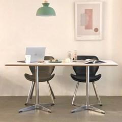 [포커스인가구] 투픽 노멀 테이블 (호마이카/천연무늬목)