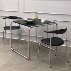 [포커스인가구] 마르셀 실버 테이블 (호마이카/천연무늬목)
