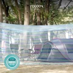 국내제작 300x400x180 블루 BLUE 코쿤 피톤치드 야외 사각모기장