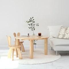원목 토끼 테이블 체어 세트