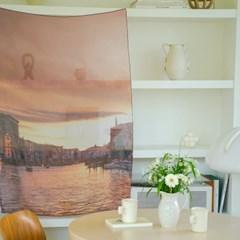[크롭크롭] Orange Venice 패브릭 포스터
