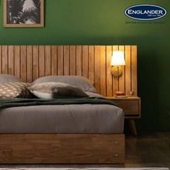 메르시 원목 수납 침대(NEW E호텔 양모 라텍스 7존 독립매트-Q)+협탁