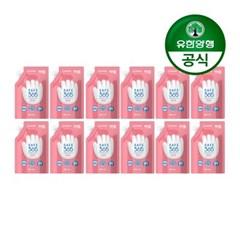 [유한양행]해피홈 핸드워시 리필 200mL 핑크포레향 12개