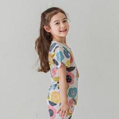 [키키스토리] 핑크정원 무형광 5부 자가드 실내복
