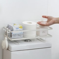 미니멀라이프 욕실선반 심플변기선반 거치식수납 일자선반