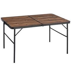 로고스 블랙 우드 와이드 접이식 캠핑 테이블 1200 73188006