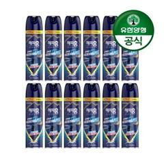 [유한양행]해피홈 모기약 수성 에어로솔 무향 550mL 12개
