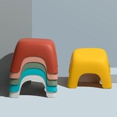 라운드 미끄럼 방지 욕실 의자 어린이 발 받침대 6color