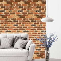 셀프 접착식 조각벽지 벽돌디자인 21종