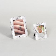제프니-스크롤 은도금 보석 미니 초미니 사진액자 2개묶음
