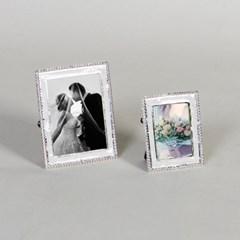 제프니-비즈 은도금 보석 미니 초미니 사진액자 2개묶음
