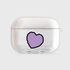 lavender heart fluffy [clear 에어팟프로케이스]_(1027055)