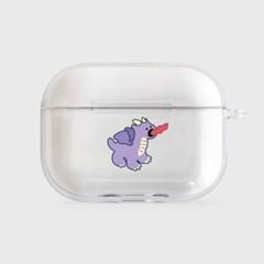 purple line baby dragon [clear 에어팟프로케이스]_(1027050)