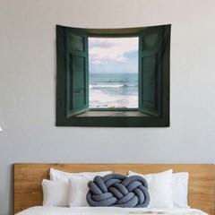 바다가보이는 풍경 패브릭포스터 태피스트리 벽걸이 포스터