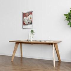 [오크] L형 식탁/테이블 : 화이트오크 1500_(1725758)