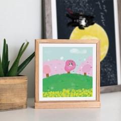 [post card] 봄동산