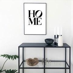 HOME 레터링 포스터