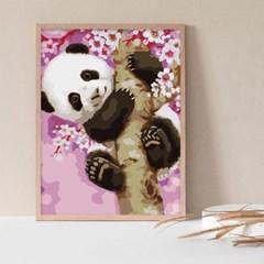 벚꽃 팬더 DIY명화그리기 유화그리기세트 명화색칠하기_(2560245)