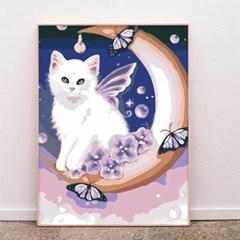 초승달 날개 고양이 DIY명화그리기 유화그리기세트_(2560236)
