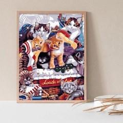 고양이 여덟마리 DIY명화그리기 유화그리기세트_(2560232)