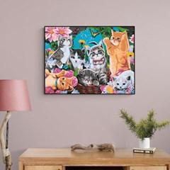 다양한 고양이 가족 DIY명화그리기 유화그리기세트_(2560221)