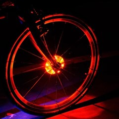 [바이크샵] LED 자전거 휠라이트 (레드/깜박이모드/건전지포함)
