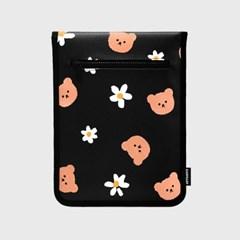 Dot flower merry-black(11인치 레더파우치)_(1903764)