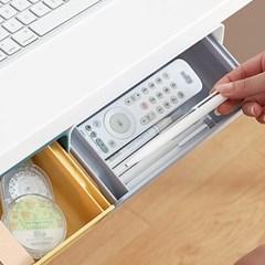 하이드 접착식 히든서랍 주방 책상 밑 소품정리함
