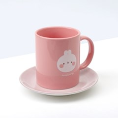 몰랑 핑크 머그컵