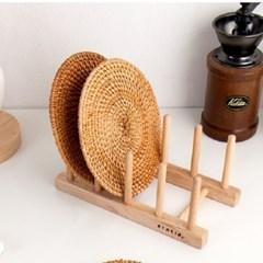 홈카페 라탄 원형 컵받침 라탄인테리어 S