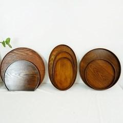 윌넛 고급 우드 트레이 카페 브런치 나무 쟁반(7종)
