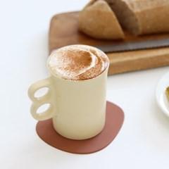파스텔 카페 더블링 귀여운 뭉툭 머그컵