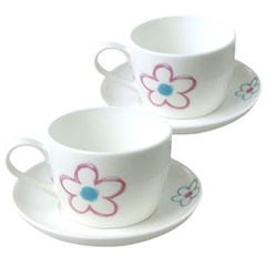 플로라 커피잔 2인조(4p)