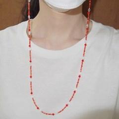 orange_mask_neck 오렌지 비즈(마스크)목걸이