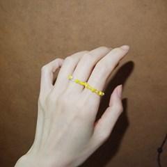lemon_color_ring 레몬 비즈반지