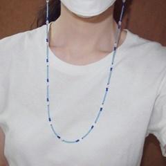 sea_mask_neck 블루 비즈(마스크)목걸이