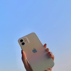 오로라 그라데이션 아이폰 투명 범퍼케이스