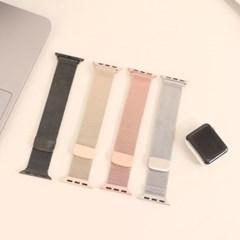 애플워치 밀레니즈루프 메탈 스트랩 6 5 4 3 se (38 40 42 44mm)
