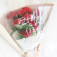 [반짝조명] 카네이션 레터링 꽃다발
