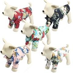 강아지 썸머 하와이안셔츠 애견 여름옷 바캉스룩 꽃남방