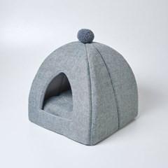 [모던하우스] 펫본 폼폼인테리어 하우스 그레이 양면방석