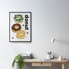 도넛 M 유니크 디자인 인테리어 포스터 카페 디저트 베이커리