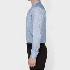 남자 데이트룩 차이나카라 고급스런 깔끔 체크 기본 셔츠