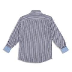 남자 스트라이프 소매 포인트 배색 빅사이즈 와이 셔츠