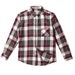 남자 소프트 체크 약기모 포켓 캔퍼스룩 20대 데일리 셔츠
