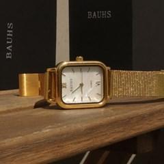 20대 여성 패션 손목시계 자개 금장 시계 하버 골드_(512878)