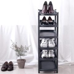 슬림 신발정리대 진열대 6단 블랙